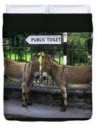 Public Toilet Duvet Cover
