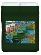 Pueblo Downtown--4th Street Bridge Duvet Cover