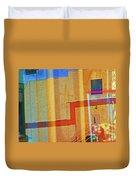 Pueblo Downtown Reflection 2 Duvet Cover