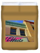 Pueblo Downtown-screened Effects Duvet Cover