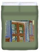 Pueblo Downtown--thatcher Building Door Duvet Cover