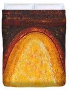 Pueblo Kiva Fireplace Original Painting Duvet Cover