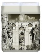 Puente Nuevo Tajo De Ronda Andalucia Spain Europe Duvet Cover