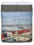 Puerto De Valparaiso Duvet Cover