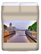 Puerto Madero Canal Duvet Cover