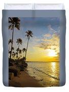 Puerto Rico Sunset Duvet Cover