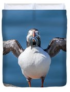 Puffin With Fish For Tea Duvet Cover