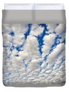 Puffy Clouds And Blue Sky Duvet Cover