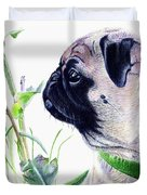 Pug And Nature Duvet Cover