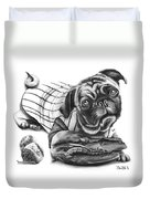 Pug Ruth  Duvet Cover by Peter Piatt