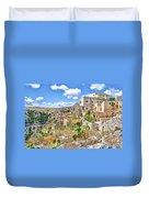 Puglia Canvas Church Hermitage Pulsano - Monte Sant Angelo - Foggia - Gargano Duvet Cover