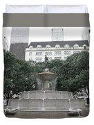 Pulitzer Fountain Duvet Cover