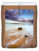 Pulled To The Sea Duvet Cover by Mike  Dawson