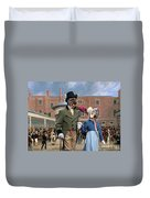 Pumi Art Canvas Print - Settling Day At Tattersalls Duvet Cover