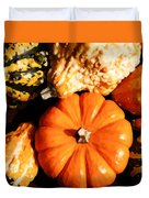 Pumkin And Gourds Duvet Cover