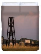 Pump Jack Golden Hour Duvet Cover