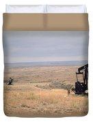 Pump Jacks Pump Oil In Rural Perryton Duvet Cover