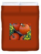 Pumpkin And Flowers Duvet Cover