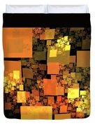 Pumpkin Autumn Cubes Duvet Cover