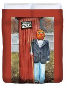Pumpkin Farmer Duvet Cover