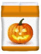 Pumpkin Glow Duvet Cover