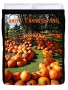 Pumpkin - Happy Thanksgiving Duvet Cover