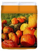 Pumpkin Meeting Duvet Cover