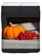 Pumpkin N Berries Duvet Cover