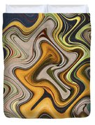 Pumpkin On Fence Abstract # 6822 Wwt Duvet Cover