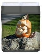Pumpkin Skull Duvet Cover