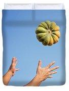 Pumpkin Time Duvet Cover