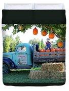 Pumpkin Truck Duvet Cover