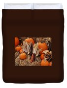 Pumpkins And Corn Duvet Cover