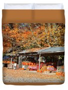 Pumpkins For Sale Duvet Cover