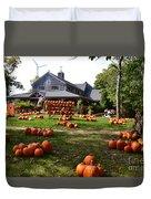 Pumpkins In Martha's Vineyard Farm Duvet Cover