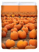 Pumpkins Waiting For Homes Duvet Cover