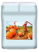 Pumps And Pumpkins Duvet Cover