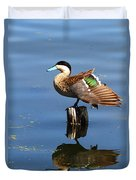 Puna Teal Reflections Duvet Cover