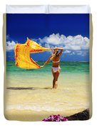Punaluu Beach Vacation Duvet Cover by Tomas del Amo - Printscapes