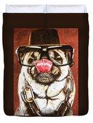 Punk Pug Duvet Cover
