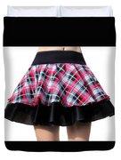 Punk Style Mini Skirt - Ameynra Fashion Duvet Cover