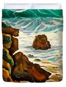 Punta Rincon Duvet Cover by Milagros Palmieri