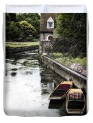 Punting Boats Duvet Cover