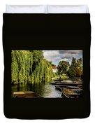 Punting, Cambridge. Duvet Cover
