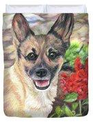 Pup In The Garden Duvet Cover