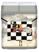 Puppet Doggy In Trouble Again Duvet Cover