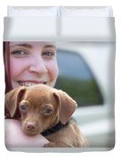 Puppy And Smiles Duvet Cover