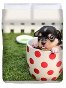 Puppy Cup Duvet Cover