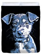 Puppy Dog Graphic Novel Drawing Duvet Cover