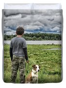 Puppy Guard Majestic Forest Duvet Cover
